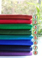 18 color pure color with thick bamboo Hanfu cheongsam cotton and linen cloth Double sided with clothes fabrics by hand