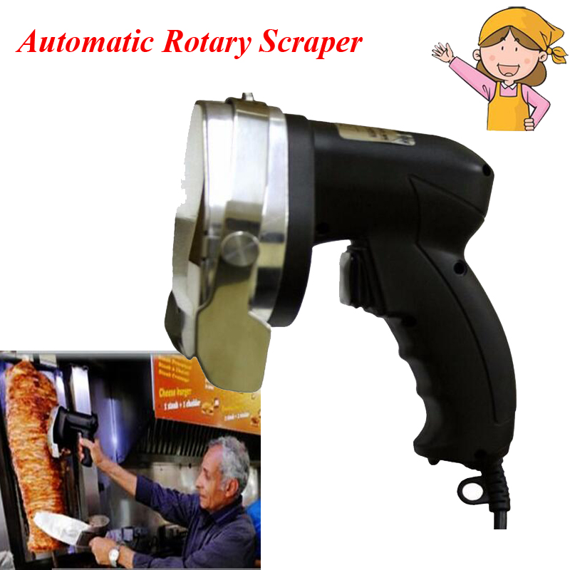 1pc New Electric Meat Cutter Automatic Rotary Barbecue Circular font b Knife b font Scraper Meat