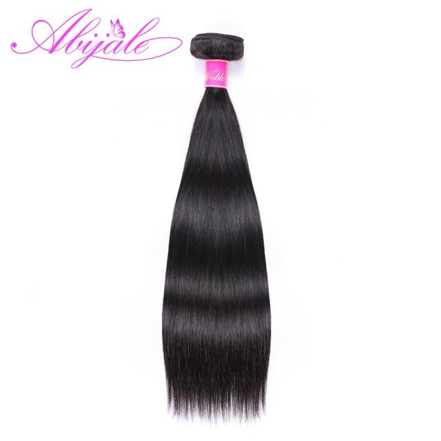 Paquetes de pelo recto Abijale paquetes de extensiones de cabello brasileño 1/3/4 piezas de extensiones de cabello humano no Remy