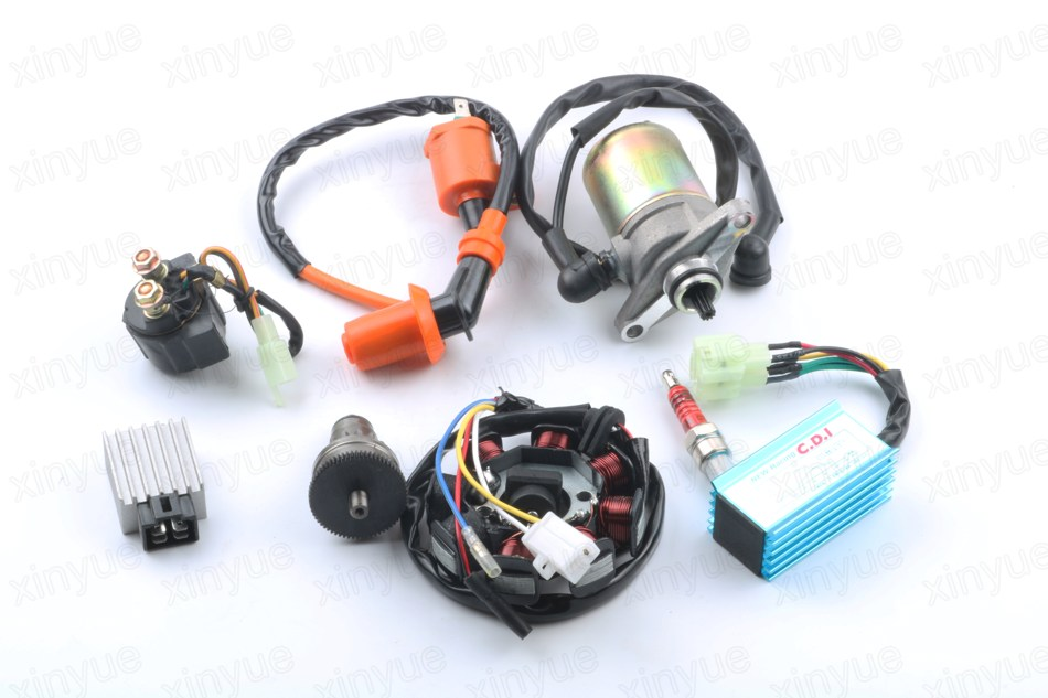 GY6 50cc  Motor Assy Starter,Clutch,RECTIFIER,CDI ,STATOR COMPONENT-8, Relay for 139QMB Scooter ATV Go Karts Moped Engine Parts clutch assy of js400atv and bashan 400cc atv parts code is f3 414000 0