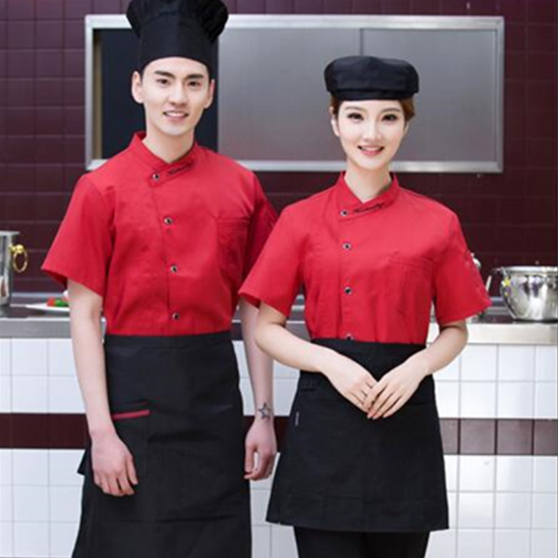 Summer Short-sleeved Chef Uniform Chef Jacket Food Service Clothing Hotel working wear Restaurant work clothes Kitchen Cook Wear