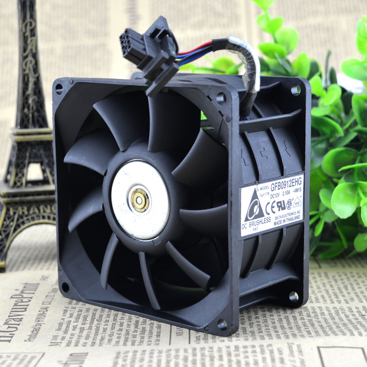 Original 9CM Dual Fan cooling 9250 12V 2.1A GFB0912EHG Quality Assurance cpu cooler heatsink axial Cooling Fan original delta afb0912shf 9032 9cm 12v 0 90a dual ball bearing cooling fan page 1