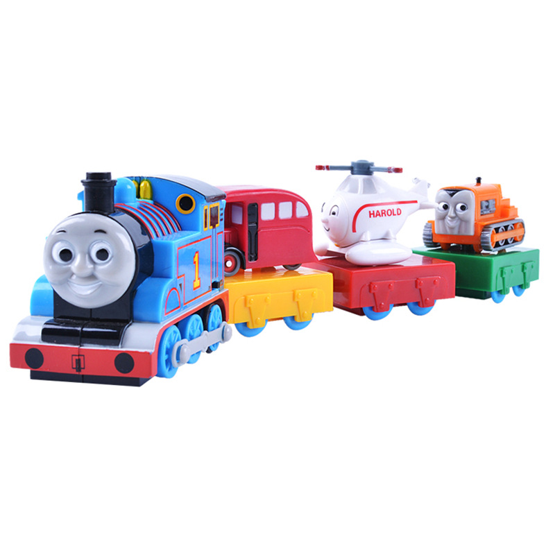 Free Shipping Plastic Mini Electric Thomas Toy Trains 1pc AA Battery Power kids Toy Train With Retail Package For Children #ES