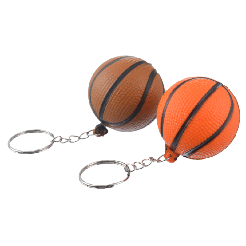 MJARTORIA 4PCs Fixed Mixed Fashion PU Basketball Key Chain For Boy Man Key Holder For Car Key Ring Charm Pendant Jewelry Gift