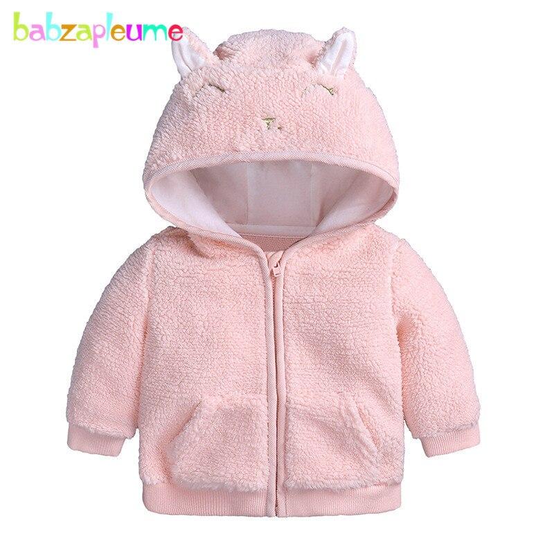 2018 Herbst Winter Baby Mäntel Neugeborenen Prinzessin Jacken Cartoon Nette Mit Kapuze Warme Fleece Infant Oberbekleidung Für Kinder Kleidung Bc1079