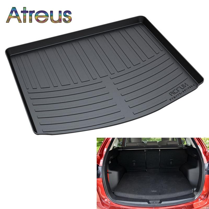 Atreus Car Rear Trunk Floor Mat Durable Carpet For Mazda 3 6 CX-5 CX-7 CX-9 Axela Atenza Speed Boot Liner Tray Anti-slip mat full covered waterproof boot carpets durable custom special car trunk mats for mazda 2 3 5 6 8 atenza axela cx 5 3 7 9 mx 5