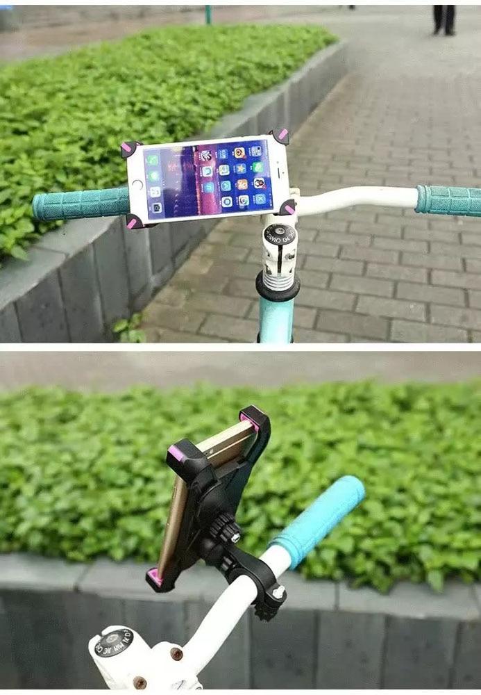 SOPORTE para TELÉFONO Móvil ajustable Para Bicicleta de Manillar Montaje Stands