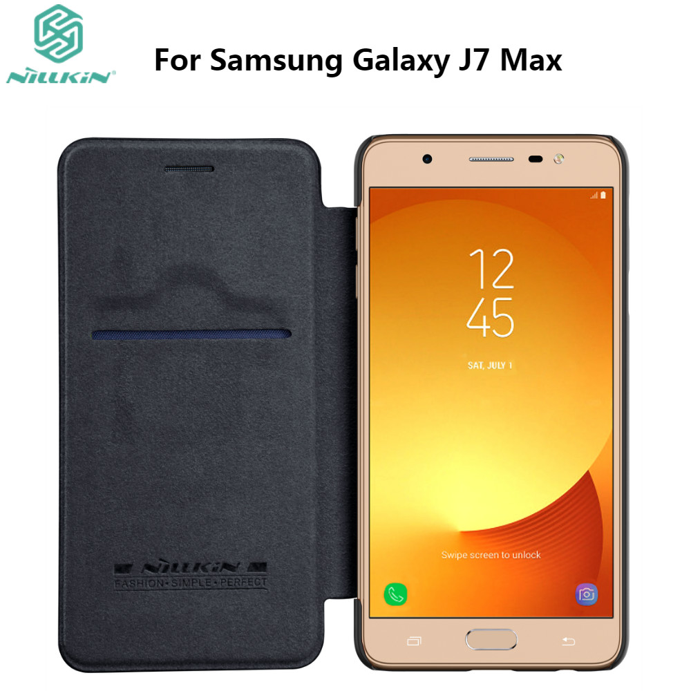 NILLKIN Case For Samsung Galaxy J7 Max Luxury Wallet PU Leather Case Stand Flip Card Hold Phone Cover Bags For Galaxy J7 Max