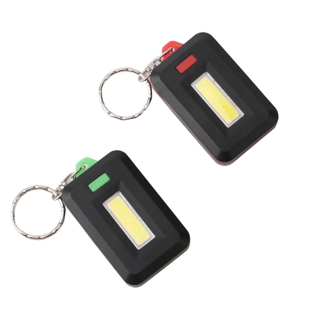 Mini Portable 3 Modes Pocket COB Worklight Light LED Flashlight Torch Keychain