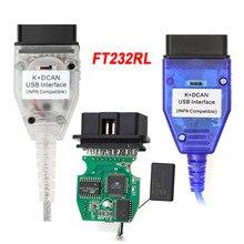 새로운 FT232RL 칩 INPA K + CAN Ediabas K DCAN 인터페이스 BMW 시리즈 1998 ~ 2008 스위치 K DCAN USB 케이블 녹색 PCB 보드
