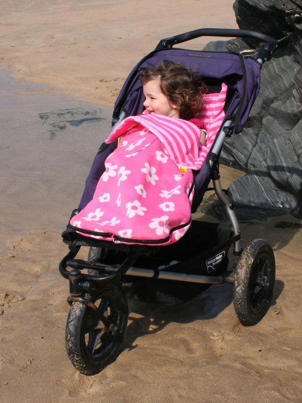 Double Layers Polar Fleece Pram Footmuff Baby Stroller