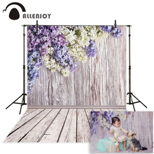 цена на Allenjoy 10ftx6.5ft Photography Backdrop romantic flower brick wooden wedding photography background for photography studio