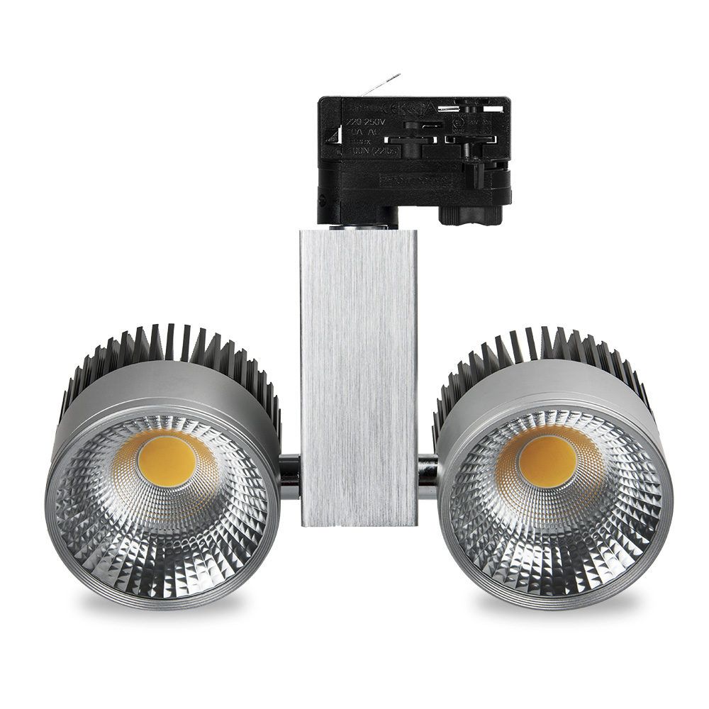 CRI>90 LED Track Light 40W 200-240v Black White Silver Grey COB LED Rail Spotlight Light Fixtures Warm Cold Natural White