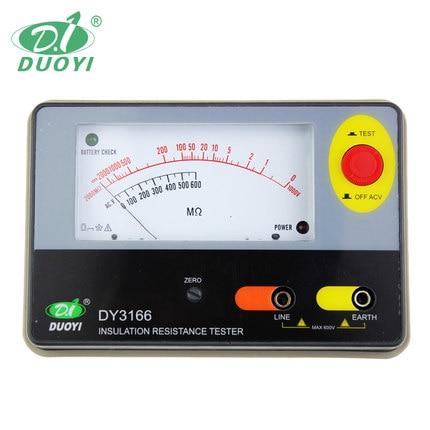 Fast arrival DY3166 Analog Insulation Resistance Tester 2000M OHMS, 1000V