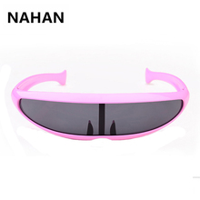 Super Cool Alien Sun Glasses for Men Women Dolphin Fish Shape Waterproof Outdoor Sunglasses Plastic Frame HD UV400 Alien Eyewear
