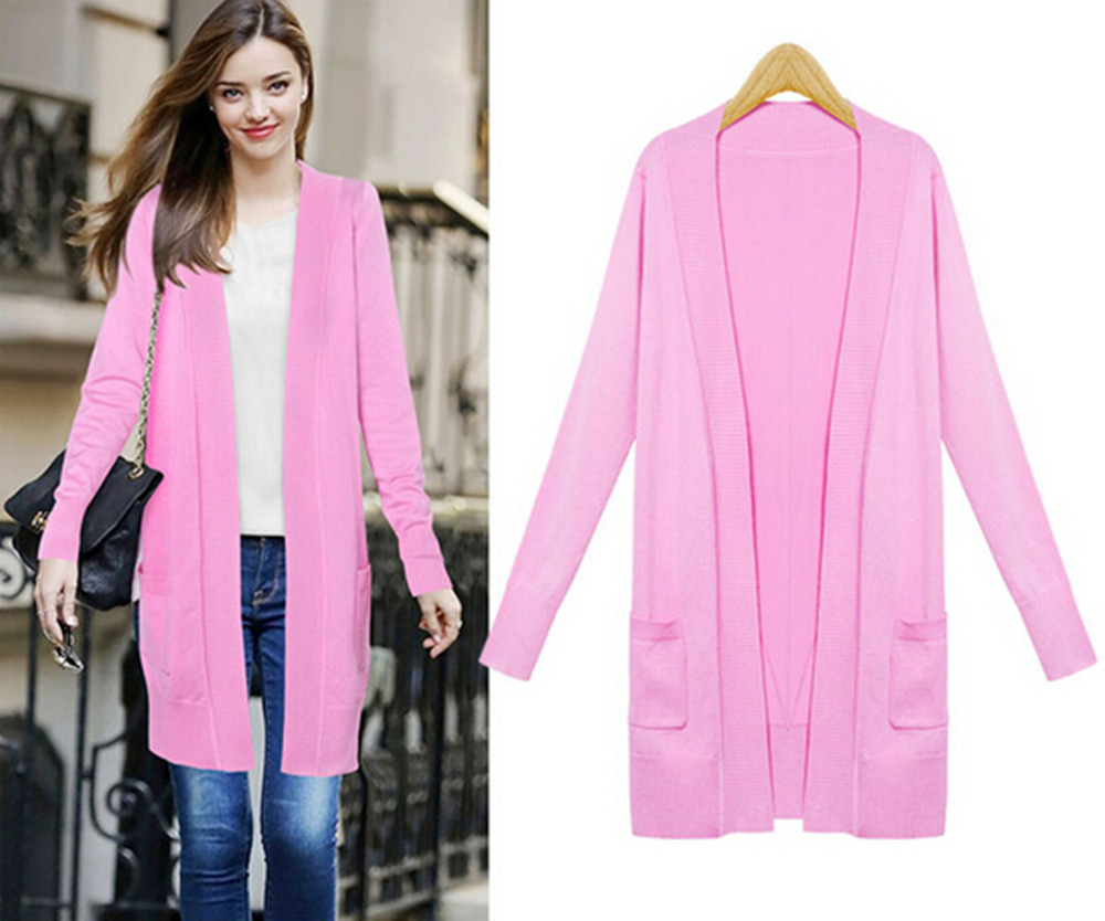 2016 New Fashion Sweater Women Full Sleeve Cardigans Sweater Long ...