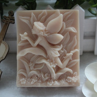 1pcs Love Beautiful Faery (zx0129) Silicone Handmade Soap Mold Crafts DIY Mold