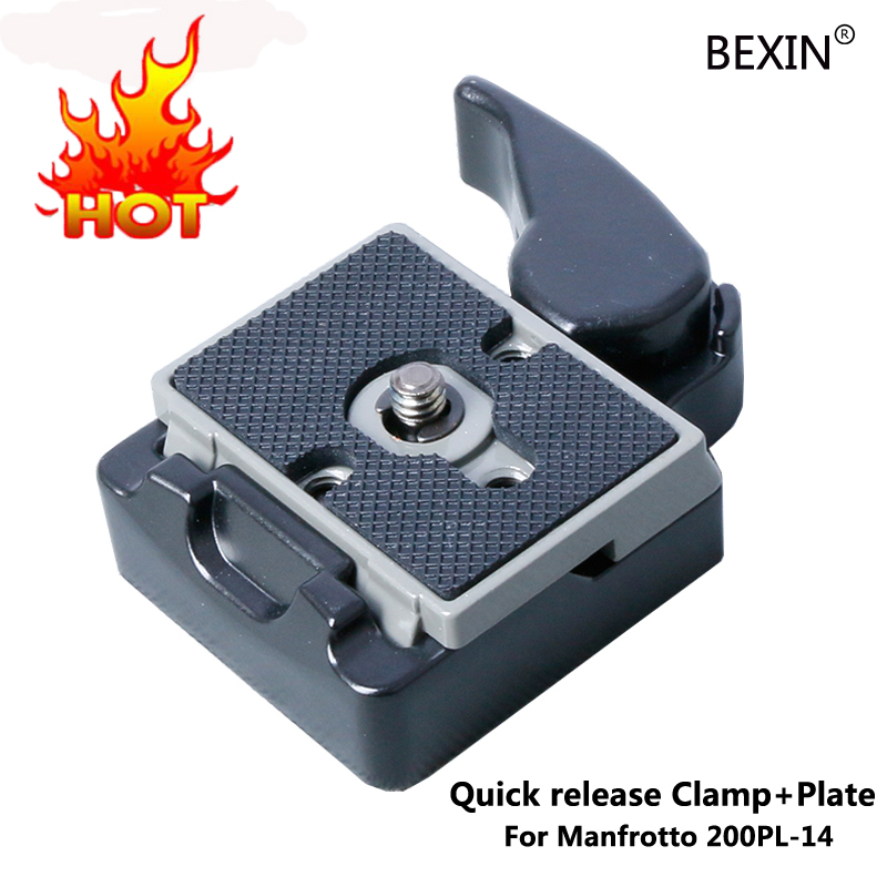 Camera Accessories 323 Quick Release Clamp Adapter + Quick Release Plate Compatible for Manfrotto 200PL-14 Plate