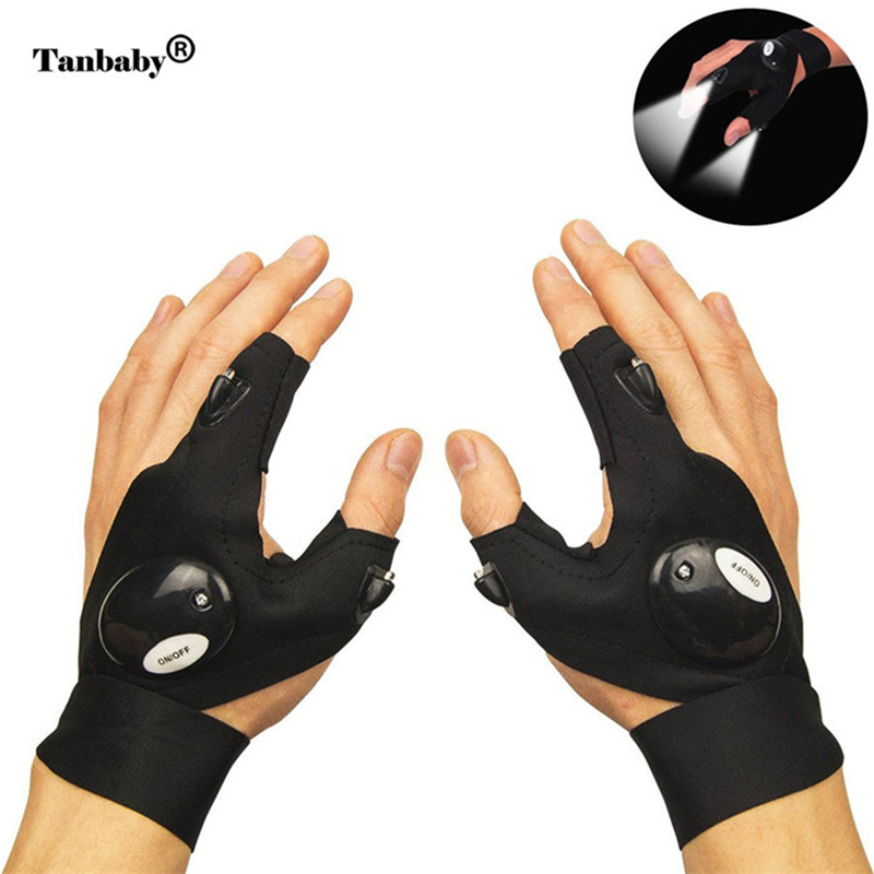 Tanbaby LED flashlight gloves night light outdoor travel activities