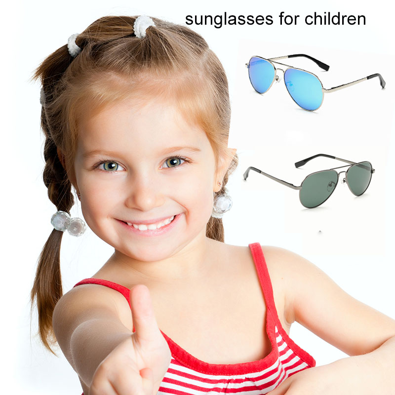 Fashion Polarized Kids Aviator Sunglasses Kids Boys Girls Classic Design Silver Frame Blue Lens Pilot Sun Glasses For Children black bamboo sunglasses 2015 fashion polarized sunglasses popular new design wooden sunglasses for free shipping z6010