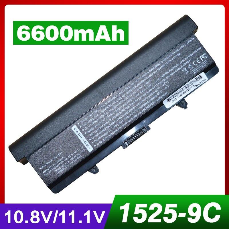 6600 mah laptop akku für DELL HP287 HP297 M911G P505M RN873 RU573 RU583 RU586 RW240 UK716 WK371 WK379 1525 PP29L M873