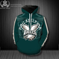 Dropshipping USA Size Denver State Broncos Costumize Unisex 3D Sweatshirts Philadelphia State Eagles Casual Tracksuit Pullover
