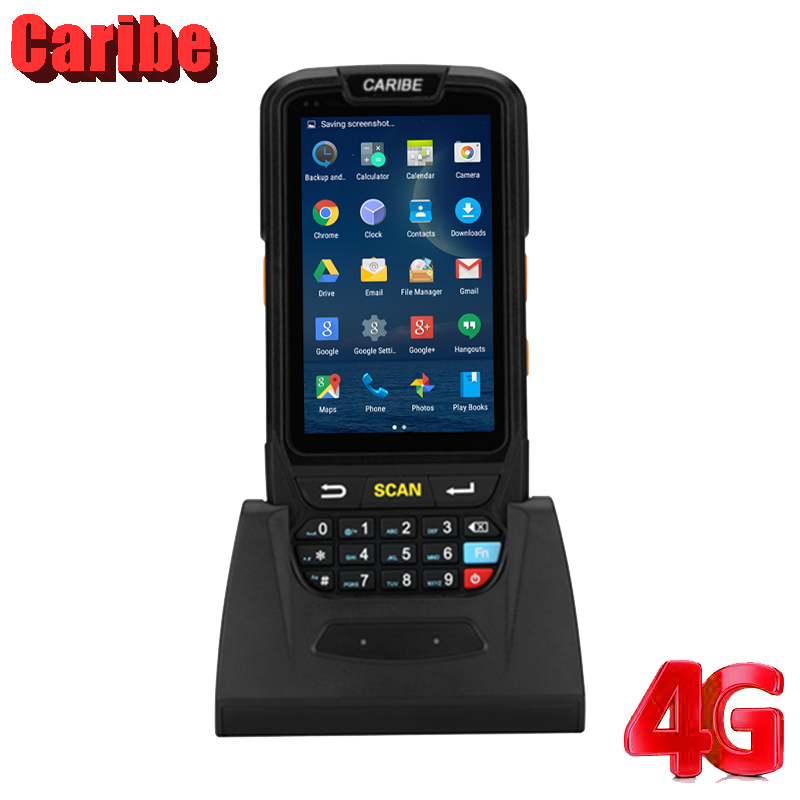 Caribe PL 40L 2D Barcode Scanner Android with RFID Reader Handheld PDA  4000mah Battery-in Scanners from Computer & Office    1