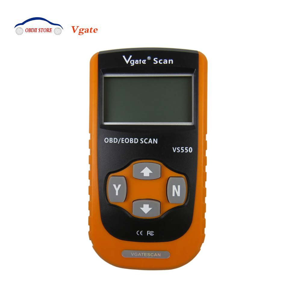 Цена за 2017 новые Vgate VS550 OBD2 диагностики авто-инструмент может EOBD ODB II читателя код сканирования VS550 OBD 2 автомобиль диагностический сканер