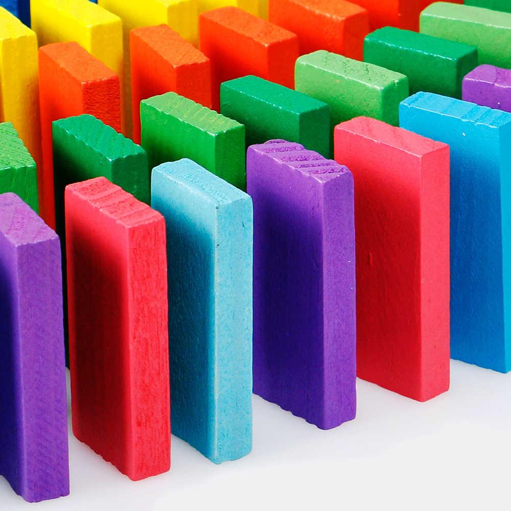 240 pièces/ensemble Domino jouets enfants jouets en bois couleur Domino blocs Kits début apprentissage dominos jeux éducatifs enfants jouets