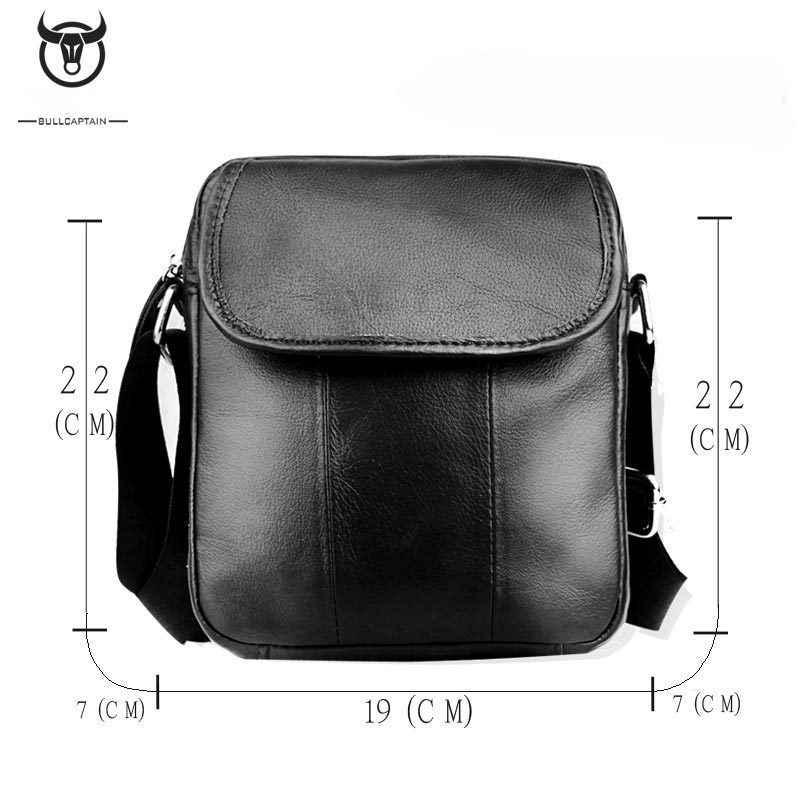 5dbd9de59 2019 BULLCAPTAIN Brand Genuine Leather Men Shoulder Handbag Cowhide Men  Travel Crossbody Bag Vintage Men Messenger .