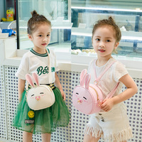 Raged Sheep Cute Girl Kids Coin Purses Holder PU Girls Fashion Rabbit Prints Shoulder Bags Candy Coin Purse Wallet Bags