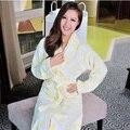 Hilift treey algodón albornoces albornoz engrosamiento 100% hilado de algodón jacquard de las mujeres ropa de dormir