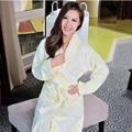 Treey Hilift roupões de banho das mulheres espessamento roupão de banho de algodão 100% algodão jacquard fio sleepwear