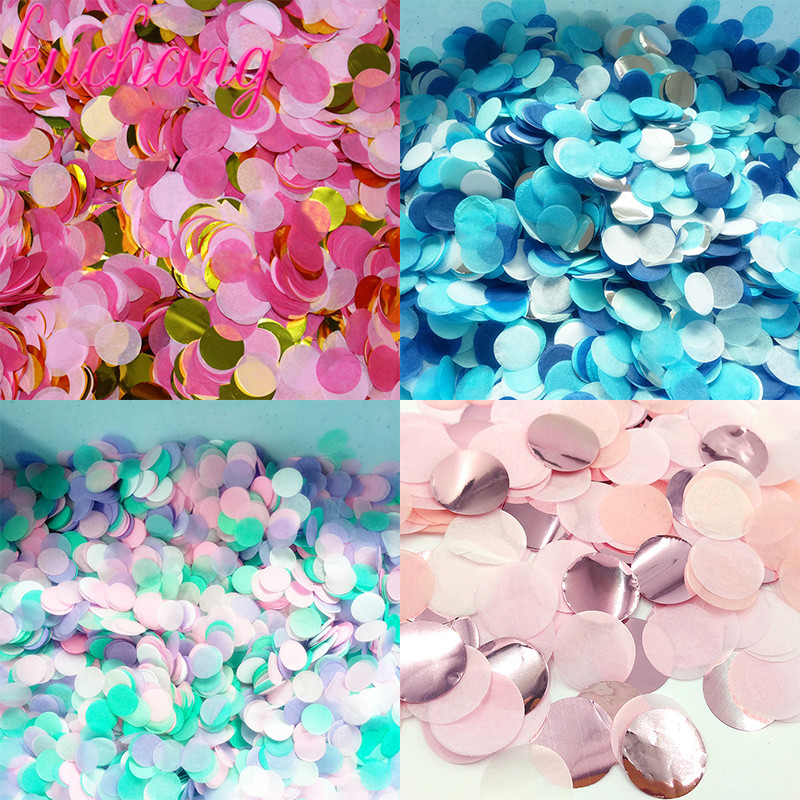 wedding : 500g 1kg Premium 1cm Round confetti Party Table Confetti  gold black red Pink Baby Shower Wedding Birthday Party Decorations