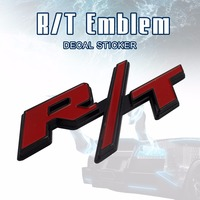 High Quality Guarantee RT R T Emblem For Charger Ram 2pcs Car Fender Tailgate Red Metal