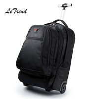 New Business Rolling Luggage Computer 20 Inch Backpack Shoulder Travel Bag Casters Trolley Carry On Wheels School Bag