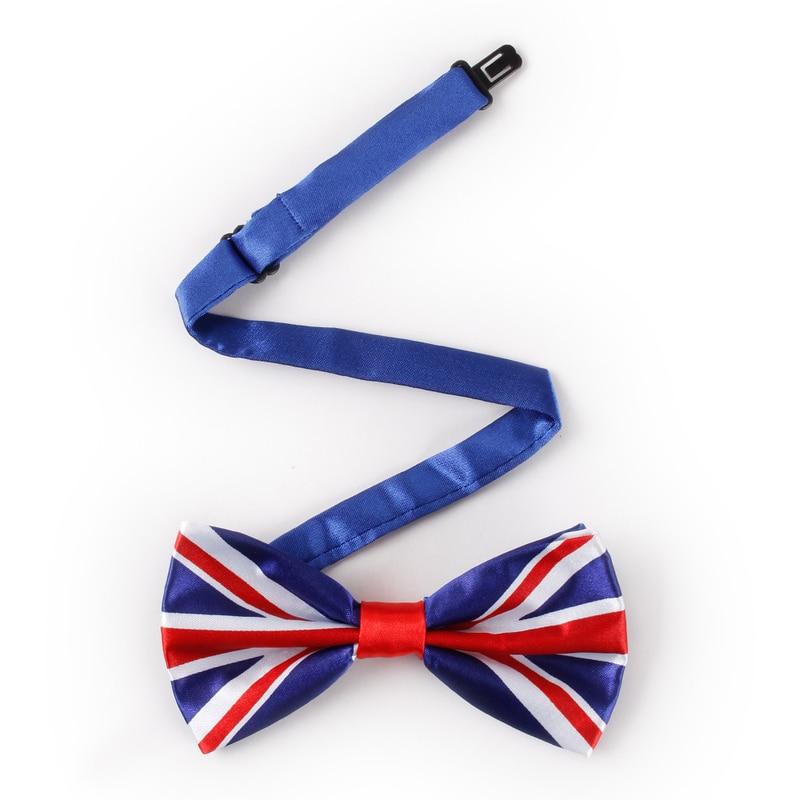 Printed Bow Tie Flag Pringting USA British Bowtie Banquet Party Men's Collar Accessories  Necktie Party Banquet Perform Men Gift
