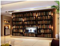 3d Photo Wallpaper 3d Murals Wallpaper For Walls 3 D Mural Bookcase Bookshelf Setting Wall Adornment