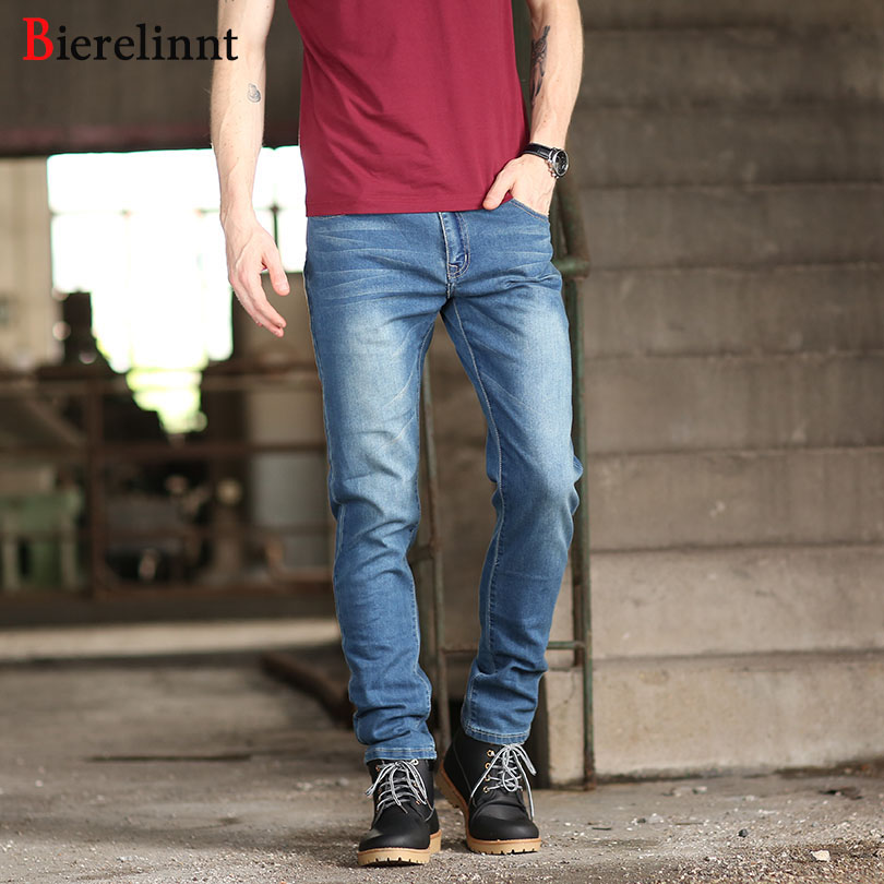Casual Elastic Loose Straight Denim Cotton Men Jeans,Hot Sale Good Quality Retail & Wholesale 2018 New Arrival Jeans Men,9810