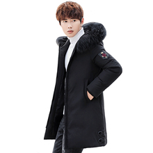цена на Men Winter Jacket Korean Casual High Quality Thicken Warm 50% White Duck Down Jacket Long Winter Coat Men Parkas Plus Size 3XL