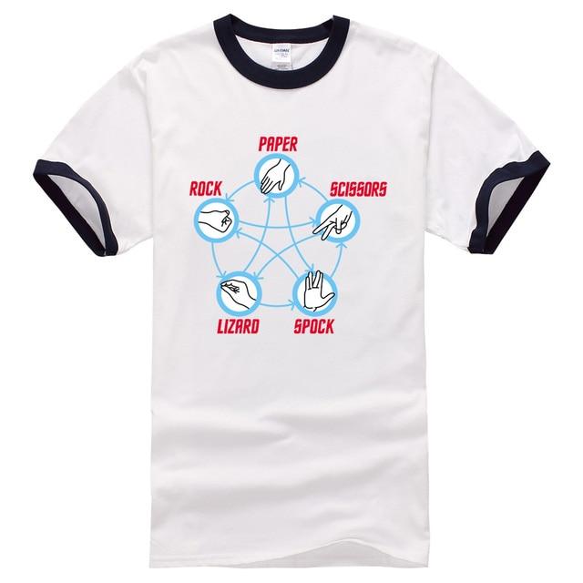 adfde71dd 2017 summer harajuku t shirts 100% cotton casual funny short sleeve Rock  Paper Scissors Lizard Spock T-Shirt men brand clothing