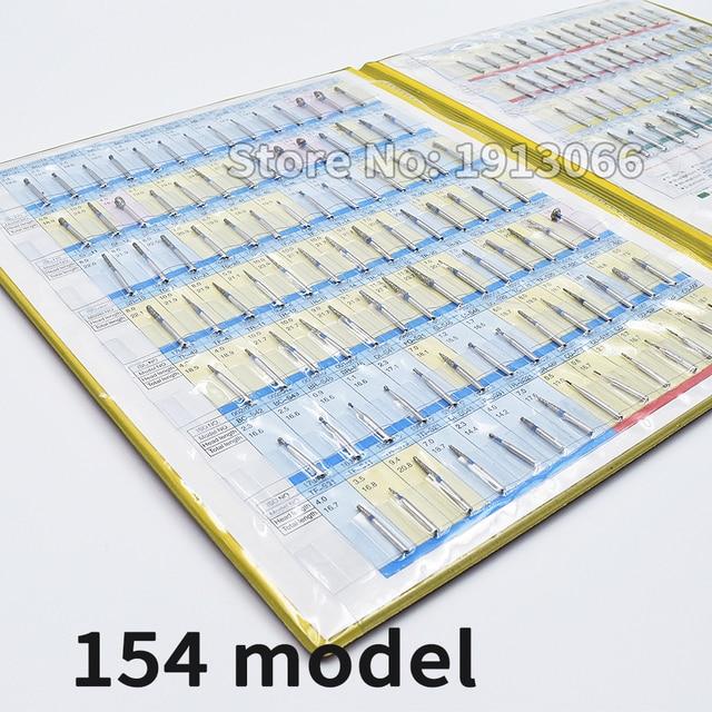 חדש יהלומי ספחת מדגם ספר 154 מודלים/pcs יהלומי ספחת קטלוג שיניים חומר מעבדת שיניים ציוד FG burs