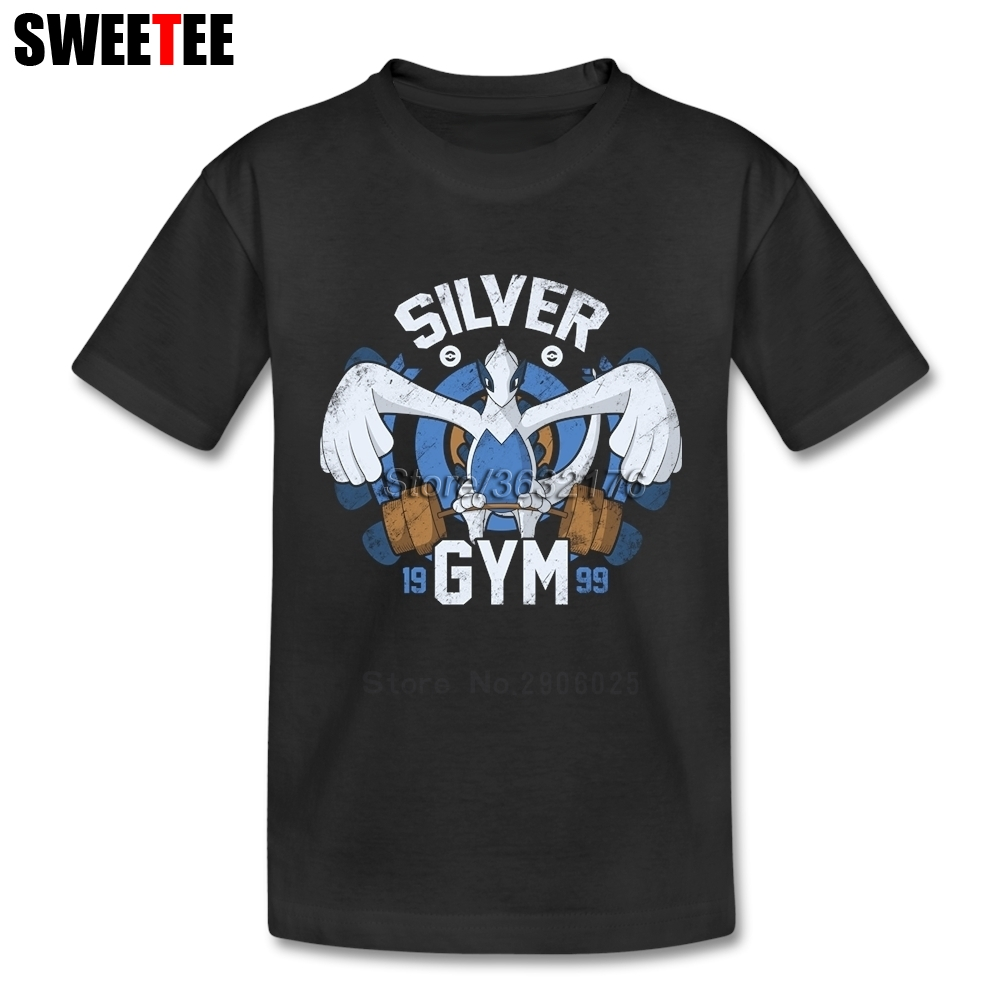 Silver Gym childrens T Shirt 100% Cotton Short Sleeve Round Neck Tshirt Costume Boys Girls 2018 For Sale T-shirt For Baby