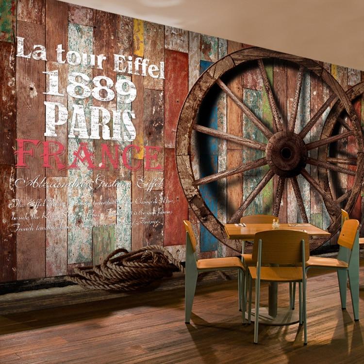 Free Shipping 3D color wood wallpaper leisure restaurant cafe bar KTV clothing store tea house wallpaper mural сорочка ночная vis a vis vis a vis vi003ewsxe15