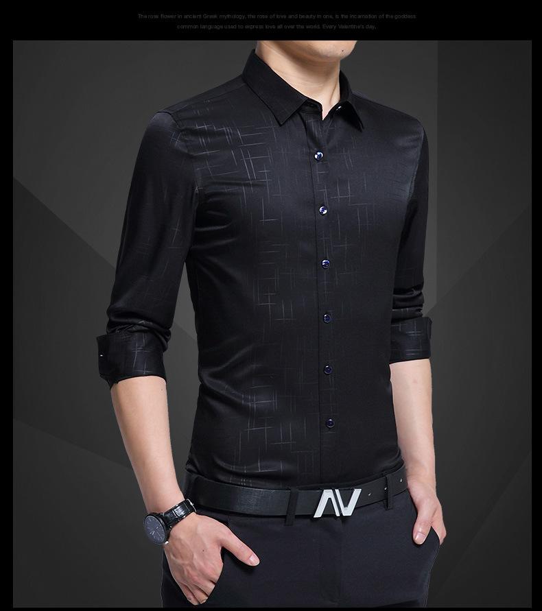 45c1b3dfeef 2019 Men Shirt Men Clothes Fashion 2018 Shirt Summer Business Shirts ...