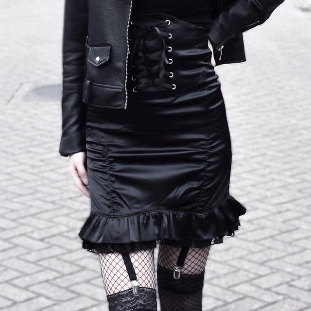 Bodycon Skirts in black with bandage