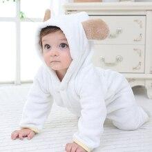 Детские комбинезоны с капюшоном, Детский комбинезон для новорожденного, одежда для девочек, пижамы с капюшоном, теплые зимние костюмы с животными