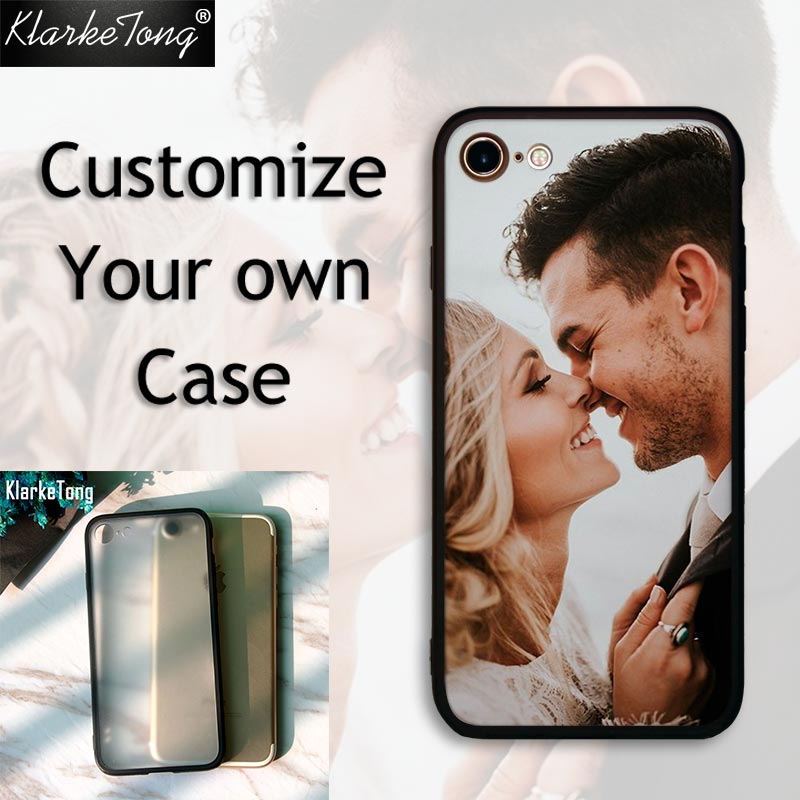 Custom DIY Print Phone Cases For iPhone X 6 5 6S 7 8 Plus Case Personalized Photo Design Soft Silicone Hard PC Back Shell Cover