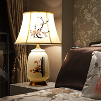 Luxurious Atmosphere Chinese Modern Minimalist Living Room Ceramic Decoration Book Complex Classical Table Lamps LO898
