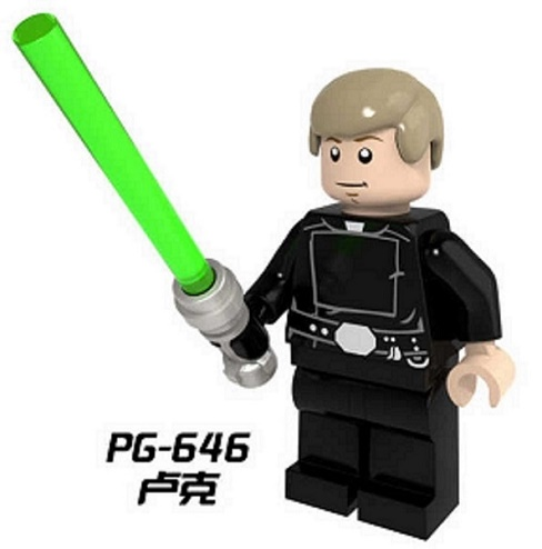 PG646 20Pcs Building Blocks Star Wars Luke Skywalker Darth Maul With Lightsaber Bricks Model Christmas Gift Toys
